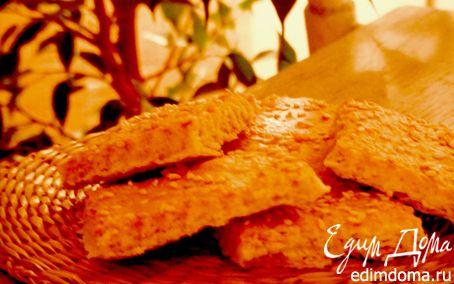 Рецепт Соленое печенье из пива с кунжутом