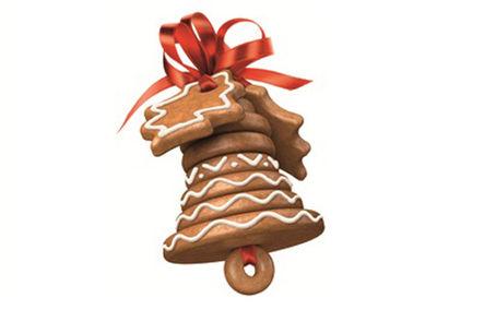 Рецепт Пряник с глазурью «Рождественский колокольчик»
