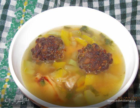 Суп с каштановыми фрикаделями