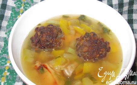 Рецепт Суп с каштановыми фрикаделями
