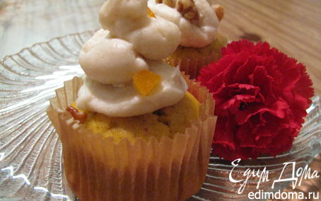 Рецепт Pumpkin Cupcakes With Cream Cheese