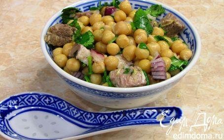 Рецепт Салат из турецкого горошка с говядиной