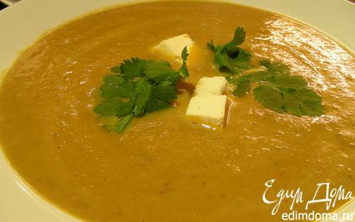 Рецепт Нежный суп-пюре биск из овощей и каштанов