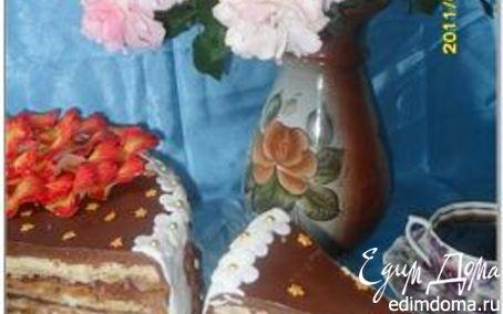 """Рецепт Торт """"Наполеон"""" и печенье """"Пальчики"""" из одного теста (+ украшение торта """"Жар-птица"""" и рецепт жел..."""