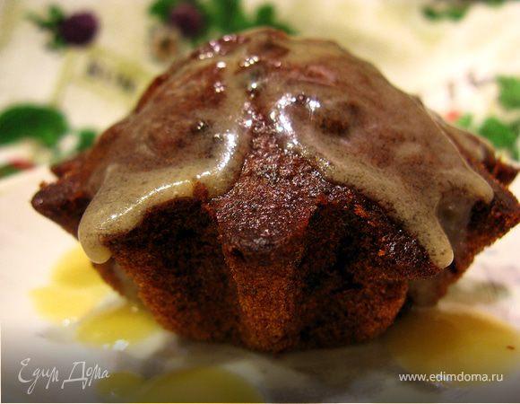 Финиковые кексы с карамельным соусом