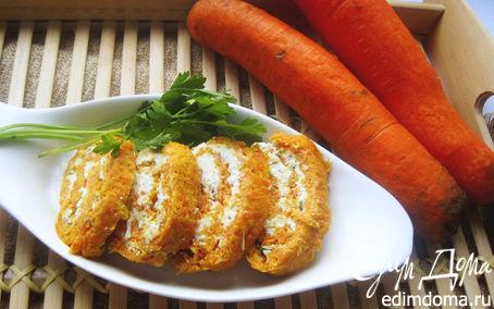 Рецепт Морковные рулетики с творожным кремом