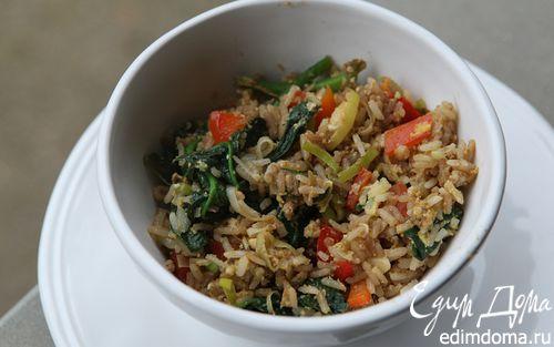 Рецепт Рис, зажаренный с овощами и яйцом