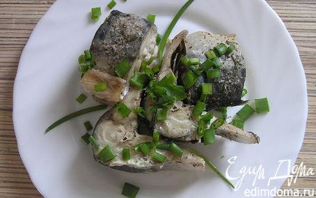 Рецепт Скумбрия с лимоном и адыгейской солью в пароварке