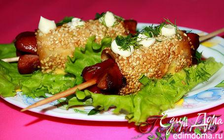 Рецепт Закусочные сосиски в лаваше.