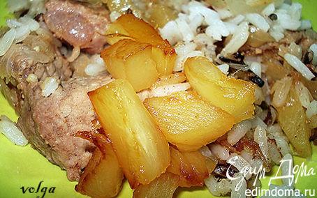 Рецепт Пелле (свинина с ананасами)