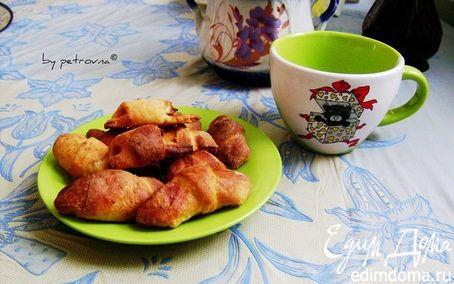 Рецепт Рогалики из творожного теста с яблоками