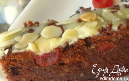 Рецепт Быстрый шоколадно-миндальный пирог