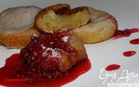 Рецепт Пончики бюни с малиновым вареньем