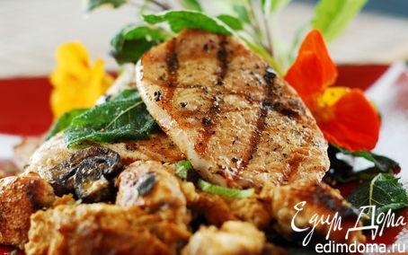 Рецепт «Свинина с грибами и черносливом», рецепт от Ирины Лаховой