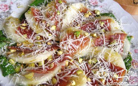 Рецепт Салат с грушами и хамоном