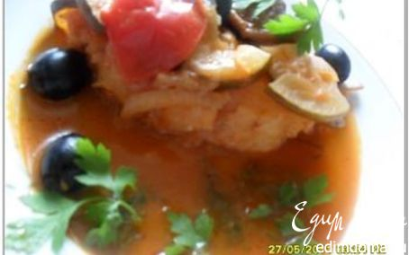 Рецепт Рыба, тушеная с овощами