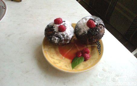 Рецепт Шоколадные кексы-брауни с малиной
