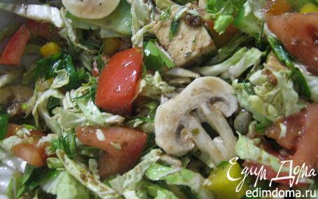 Рецепт Салат из овощей и маринованной брынзы!