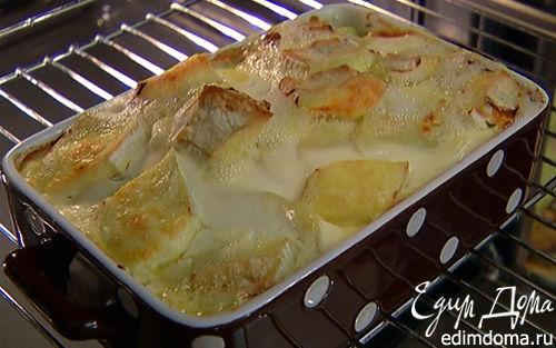 Рецепт Деревенская запеканка с копченой курицей и сыром