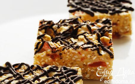 Рецепт Хрустящие вишнево-шоколадные вкусняшки (Crispy chocolate-cherry treats)