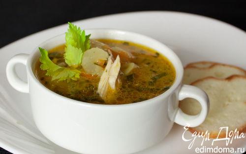 Рецепт Томатно-сельдерейный суп с говядиной