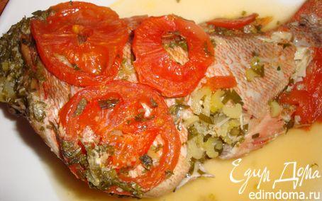 Рецепт Морской окунь, запеченный в вине