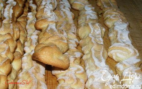 Рецепт Бисквитное печенье (савоярди)