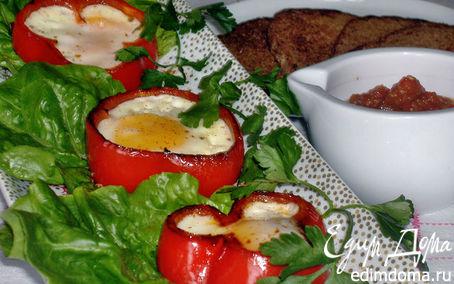 Рецепт Яичница-глазунья в сладких перцах