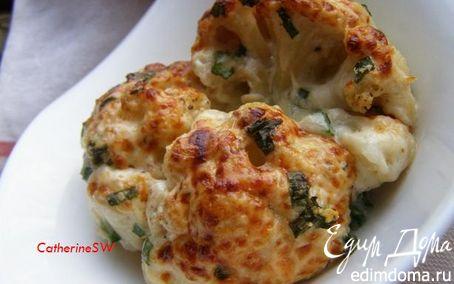 Рецепт Цветная капуста с двумя видами сыра