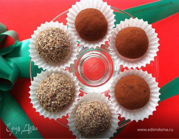 Диетические конфеты с вяленой вишней
