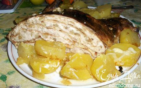 Рецепт Курица, фаршированная блинами от Ирины Браим