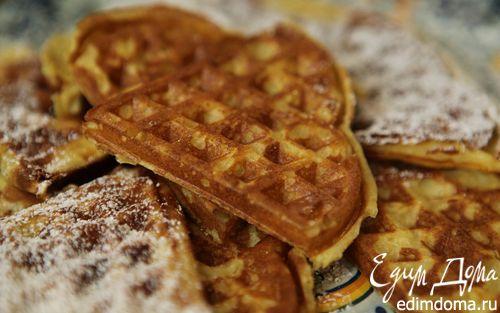 Рецепт Вафли с тыквой и кардамоном в вафельнице