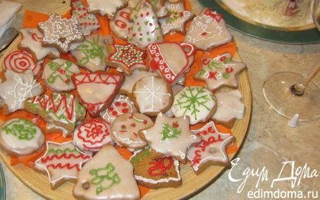Рецепт Имбирное печенье с художествами гостей