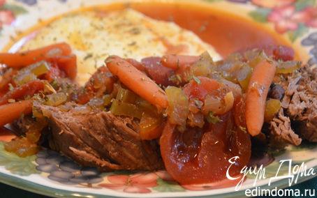 Рецепт Тушеная говядина по-итальянски