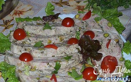 Рецепт Куриная ветчина с фисташками