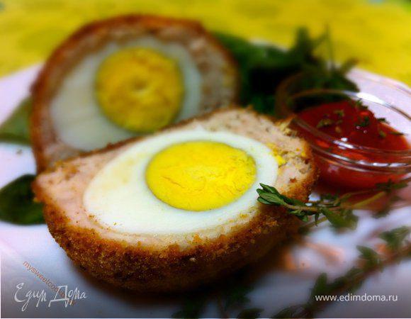 Запеченные в духовке шотландские яйца