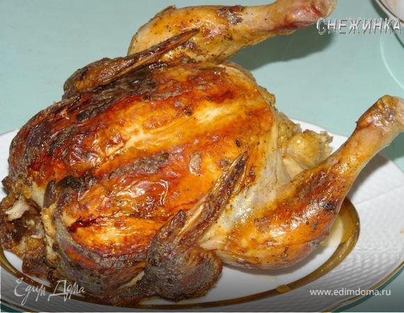 Курица в золотистой шубке, или запеченная на бутылке