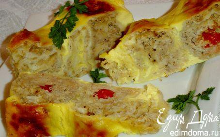 Рецепт Пирог из лаваша с мясом, сыром, помидорами -черри для Юлии