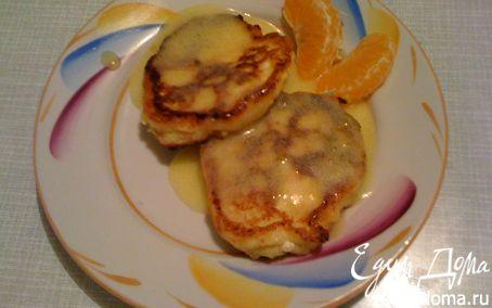 Рецепт Ванильно-апельсиновые сырники с апельсиновым кёрдом