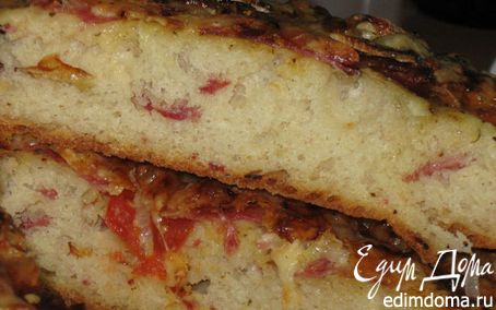 Рецепт Фокачча с пепперони в хлебопечке