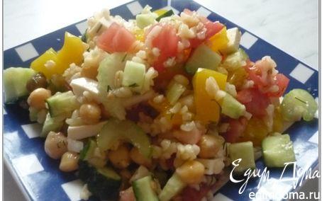 Рецепт Салат с булгуром и горохом нут