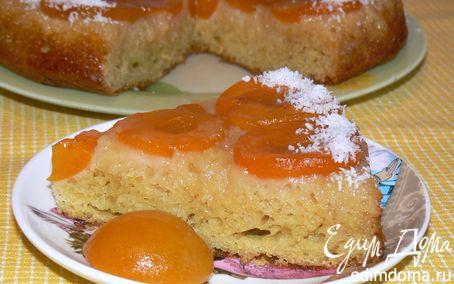 Рецепт Пирог с кукурузной мукой и абрикосами