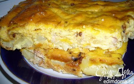 Рецепт Пирог из консервированного тунца