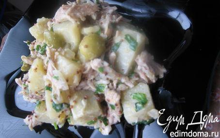 Рецепт Теплый картофельный салат с телятиной