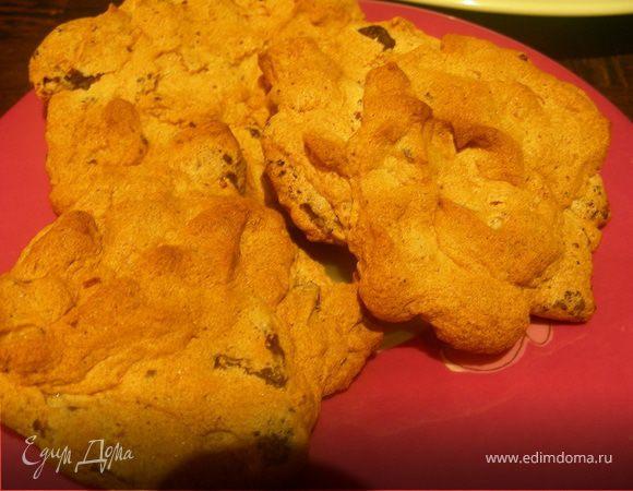 Печенье-безе с шоколадом и орехами