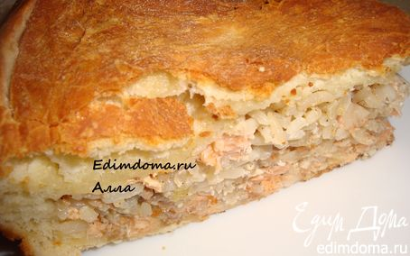 Рецепт Пирог с рыбой (семгой)
