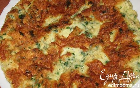 Рецепт Простенький омлетик с зеленью на завтрак