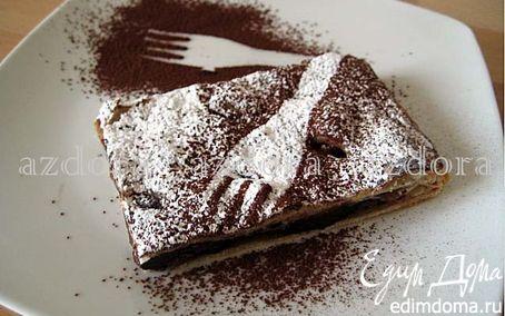 Рецепт Слойка с грушами и шоколадом