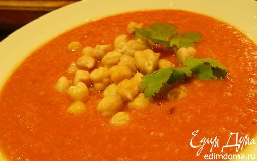 Рецепт Суп-пюре из чечевицы и нута с помидорами