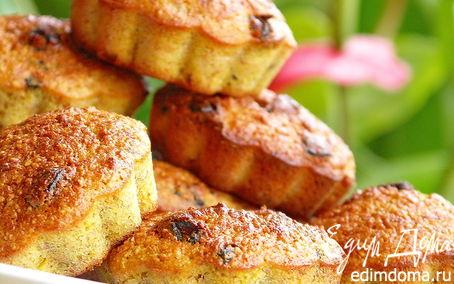 Рецепт Морковно-банановые кексы с изюмом и миндалём